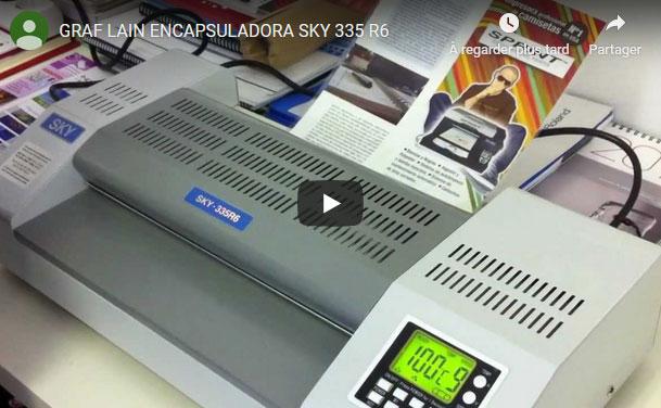 Voir la vidéo de la plastifieuse SKY 335R6 dans sa fiche produit
