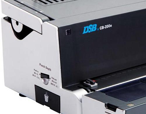 Le perforelieur DSB CB-200e a un look professionnel