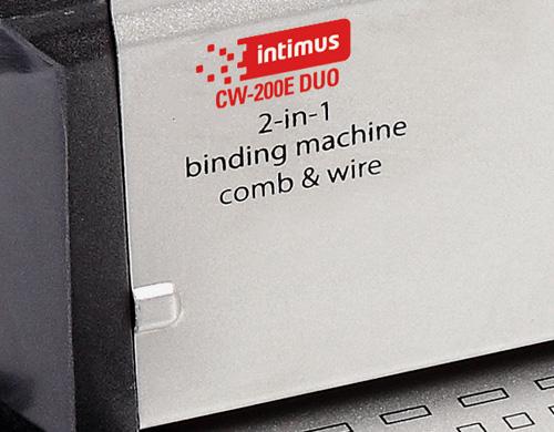 L'Intimus CW-200e Duo peut relier entre 1 et 100 dossiers métal/plastique par jour