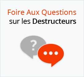 Foire aux questions sur la destruction de documents