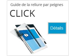 Guide pour comprendre la reliure par peignes Click