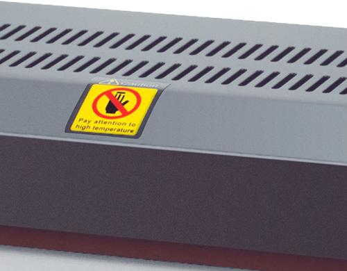 La plastifieuse PL-320 peut plastifier une centaine de documents quotidiennement