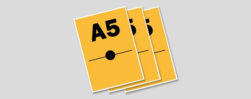 Document A5 imprimé, plastifié ou relié