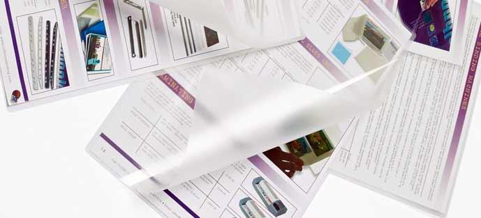 La plastification par encapsulage à chaud 100 microns par face protège vos imprimés