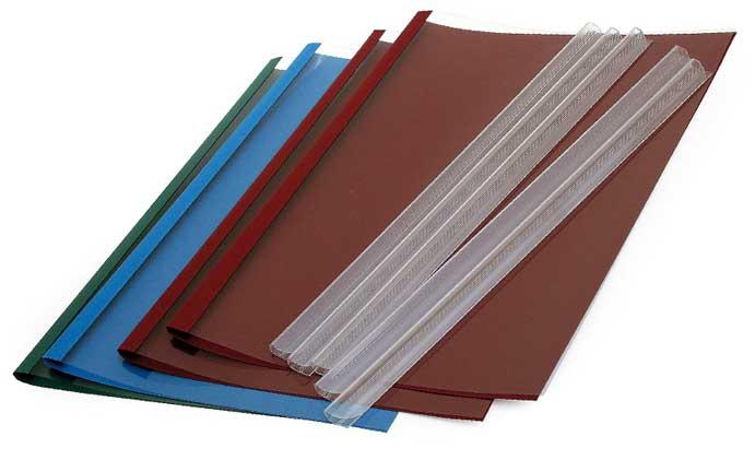 il suffit d'insérer le papier dans la reliure pour obtenir un dossier relié manuellement