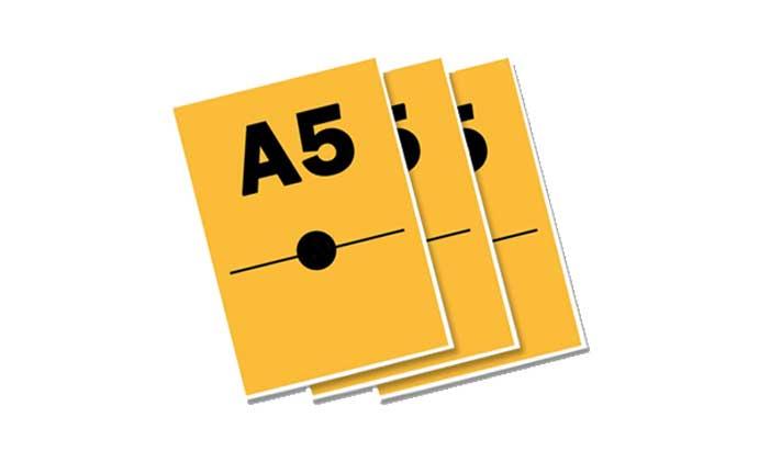 Document papier A5 DCP, imprimé, plastifié ou relié