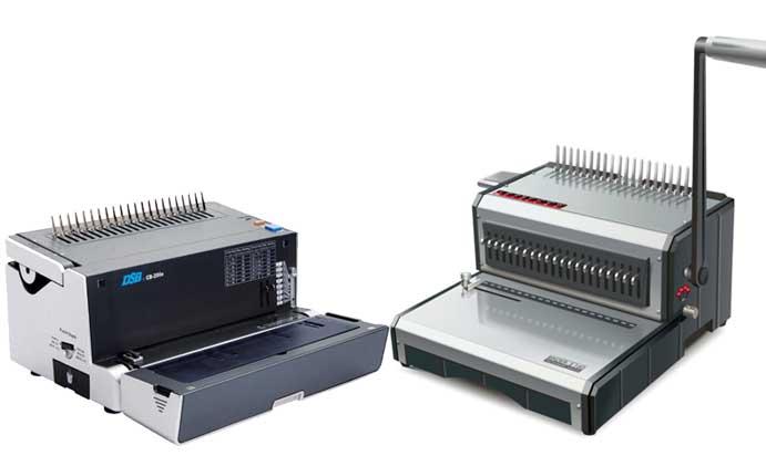 machine à relier manuelle ou perforelieuse électrique