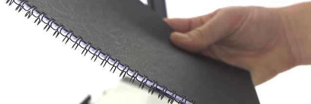 Guide des tailles en reliure par peignes anneau métal