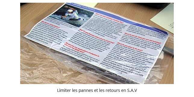 limiter les pannes et les retours en S.A.V. des plastifieuses