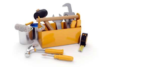 boite à outils pour réparer une plastifieuse en panne