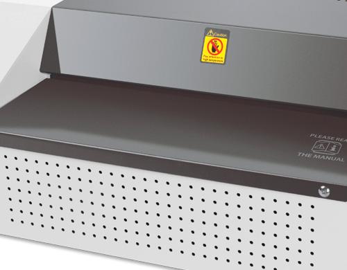 La plastifieuse PL-340 hight-speed peut plastifier un documents A4 en 8 secondes