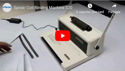 voir la vidéo d'un relieur spirale coil