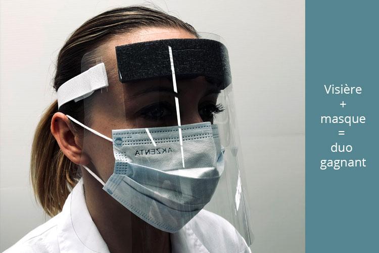Visière individuelle de protection intégrale du visage